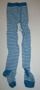 Used NEXT UK Girls 3 4 Year Tights Blue w White Stripes
