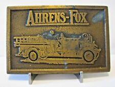 Ahrens Fox RK4? Pumper Fire Truck Solid Brass Belt Buckle engine department NYFD