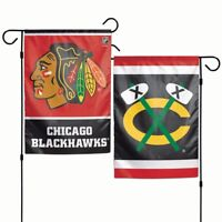 12x18 Chicago Blackhawks 2 Sided Double Sided Garden Flag Wall Banner FAST SHIP