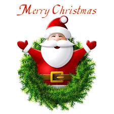 Père Noël Santa Claus Autocollant Mural Sticker Joyeux Noël Salon Décoration NF