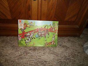 Jig Saw Puzzle Milton Bradley 60 Series Farm Scene (1977) 4493-8 Lot#mb24