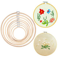 Bamboo Wooden Hoop Circle Cross Stitch Embroidery DIY Craft Sewing NeedworkWLTR