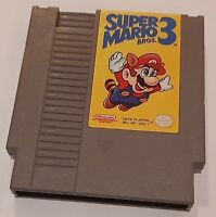 Nintendo NES Super Mario Brothers Bros. 3 loose cart, cleaned & tested authentic
