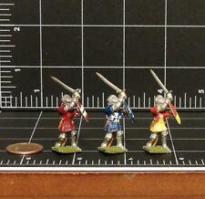 Dungeons and Dragons Grenadier Miniature Lot 3 Swordsmen vintage pewter figurine
