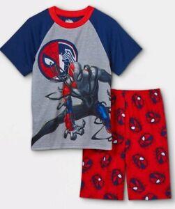 Marvel Spiderman Maximum Venom 2pc Boys Pajama Set - Navy/Red Size M