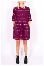 Ace & Jig Dress Maroon Burgundy NWT Glitter Arbor Dress Incense Cotton Metallic