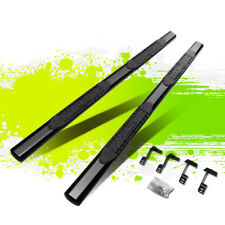 """FOR 15-18 FORD F-150/F250 F350 SUPER DUTY BLACK 4""""SIDE STEP BARS RUNNING BOARDS"""