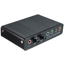 External USB 5.1 Tarjeta de sonido 3D Audio Virtual 7.1 Channel Converter Ca J8