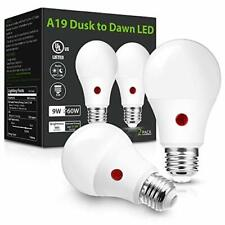 Dusk to Dawn Light Bulbs Outdoor Light Sensor 60W A19 LED Bulb Daylight 5000K