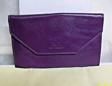 "#CS-RW UK ROWALLAN of SCOTLAND ""OLIVIA"" PURPLE LEATHER PHOTO PHOTOGRAPH ENVELOPE"