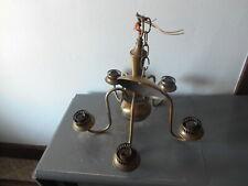 Vintage 5-Arm Ceiling Chandelier Light-For refurbishing Euc