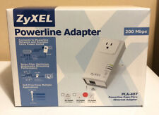 ZyXEL Powerline Pass-Thru Ethernet Adapter PLA-407 / 200Mbps / New In Box