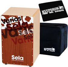 Sela SE013 Varios Cajon mit Snare + KEEPDRUM Tasche + Sitzpad