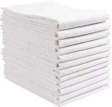 Flour Sack Towels 12 Pack 100% Natural Cotton Dish Towels White Kitchen Towel