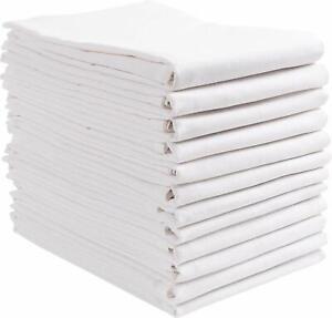 Flour Sack Towels 12 Pcs,100% Cotton,28x28 Kitchen Towel Dish Towels