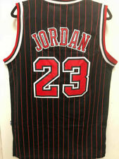 Michael Jordan #23 Chicago Bulls Throwback BLACK Pinstripe Men's/Youth Jersey