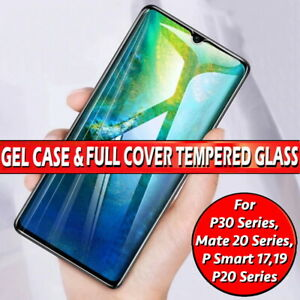Gel Case For Huawei Mate P20 P30 Pro Lite P Smart Gorilla Glass Screen Protector