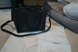 Valextra Cube Bag in  Dark Grey  - immaculate condition