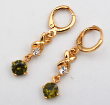 New Girls Security Perfurstone Gem Earrings 14k Gold Plated eh-018