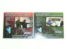 Core Archery Back Tension & Dynamic Bow Stabilization Dvd Lot of 2 Larry Wise