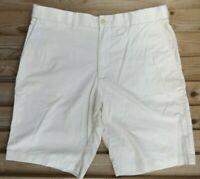 "Men`s Ex-M&S Chino Shorts Size 36"" Waist Cream Active Waist"