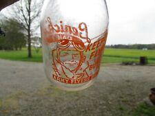 Vintage Lenick's Dairy War Bond Milk Bottle TRPQ LaPorte Indiana