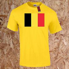 Belgique Monde Drapeau T-Shirt Géographie Enfants Adultes Rouge Diables Football