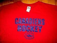 * MONTREAL CANADIENS NHL Hockey * NEW w TAGS T Shirt XL Authentic Image Logo