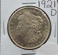 1921 D $1 Morgan Silver Dollar Coin Nice BU UNC Uncirculated Condition