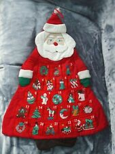 Santa Christmas Countdown Fabric Advent Calendar