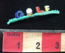 Small, Colorful GOLF Patch - Golfer 77V5
