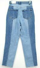 New PacSun Womens Mom High Rise Colorblock Straight Denim Fashion Pants 25 x 27