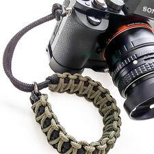 """TogBitz Fat Strap"" Paracord Camera Wrist Strap - Black & Green - Handmade"