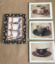 Lot of 4 COFFEE & TEA CUPS Magnets 3D Mary Engelbreit  & 3 others EUC