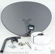 Sky Satellite Dish Zone 2 & Quad LNB + Full 40m Single White Install Kit + MORE