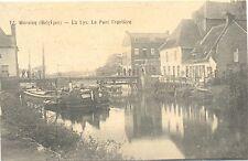 Belgique, Wervicq, la Lys, le pont frontiere, franchise de 1915