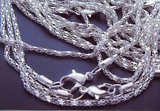 "Lot of (20) 22"" 2MM Silver Plated Chains"