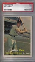 1957 Topps Baseball Card #38 Nellie Fox PSA 5 EX Chicago White Sox (HOFer)