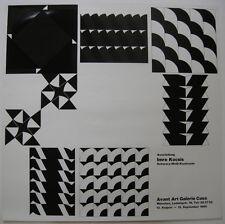 Imre KOCSIS Plakat Ausstellung Schwarz-weiss-Kontraste Galerie Casa München 1969