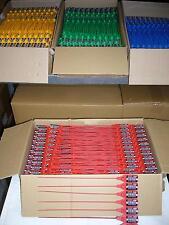 100 x Sicherheitsplomben Plomben security seals Durchziehplomben Plombe PE rot