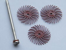 3m Red Radial Bristle Disc Set for Fire Scale-Art Clay Silver- Polishing Metals