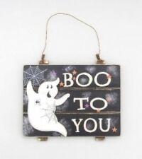 """Halloween ~ De Madera Aviso/placa ~ Espíritu ~ """"Boo a usted"""""""