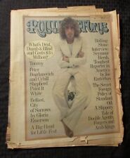 1975 ROLLING STONE Magazine #184 Music Culture Newspaper G/VG The Who Tommy