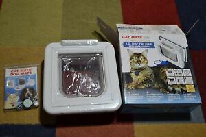 Cat Mate Elite Microchip Cat Flap ID Disc Door w/ Timer Control Location Display