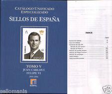 CATALOGO ESPECIALIZADO EDIFIL ESPAÑA TOMO V JUAN CARLOS I - FELIPE VI  2001-2016