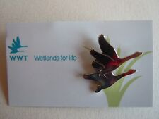 WWT Logo Wetlands For Life Pin Badge - Brand New on Backing Card