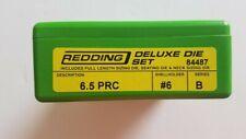 84487 REDDING 3-DIE FULL LENGTH / NECK DELUXE DIE SET - 6.5 PRC - BRAND NEW