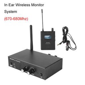 Drahtlose In-Ear-IEM-UHF-Stereo-Monitorsystem-Kopfhörer Digital 670 - 680 MHz