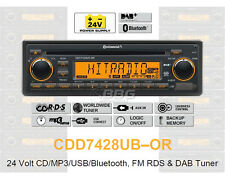 24 Volt Bluetooth Radio LKW RDS DAB Tuner CD MP3 WMA USB Truck Bus CDD7428UB-OR