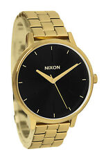Nixon A0992042 Kensington Gold Black Sunray Steel Bracelet Women Watch NEW